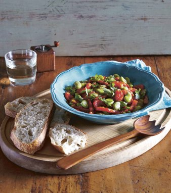Broadbean and Roasted Capsicum_Pg49